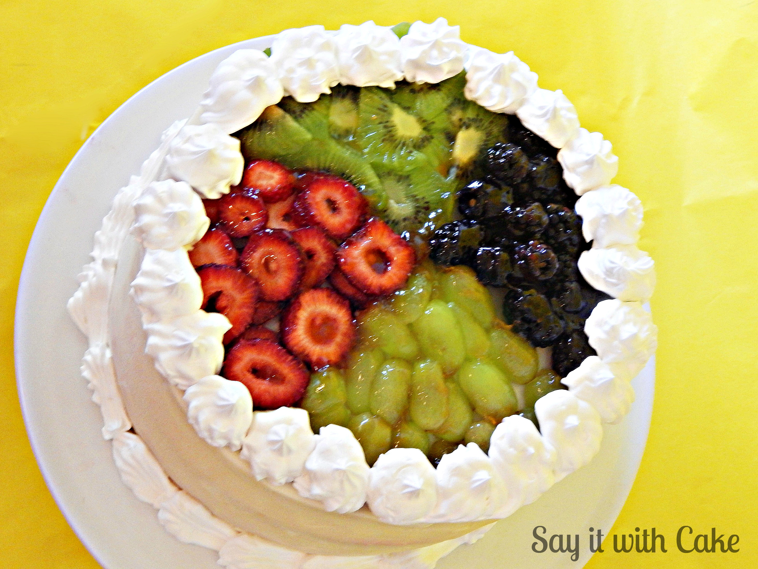 Cake With Fruit Topping : White Chocolate Ganache Cake with Fruit topping Say it ...