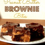 Peanut Butter Brownie Bites by Sayitwithcake.org