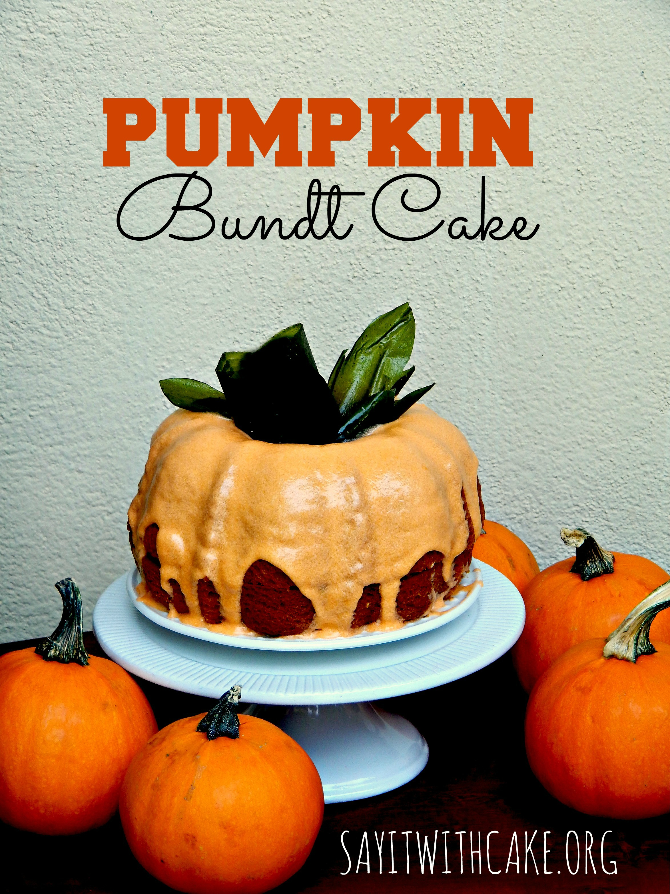 pumpkin-bundt-cake-with-glaze | Say it With Cake