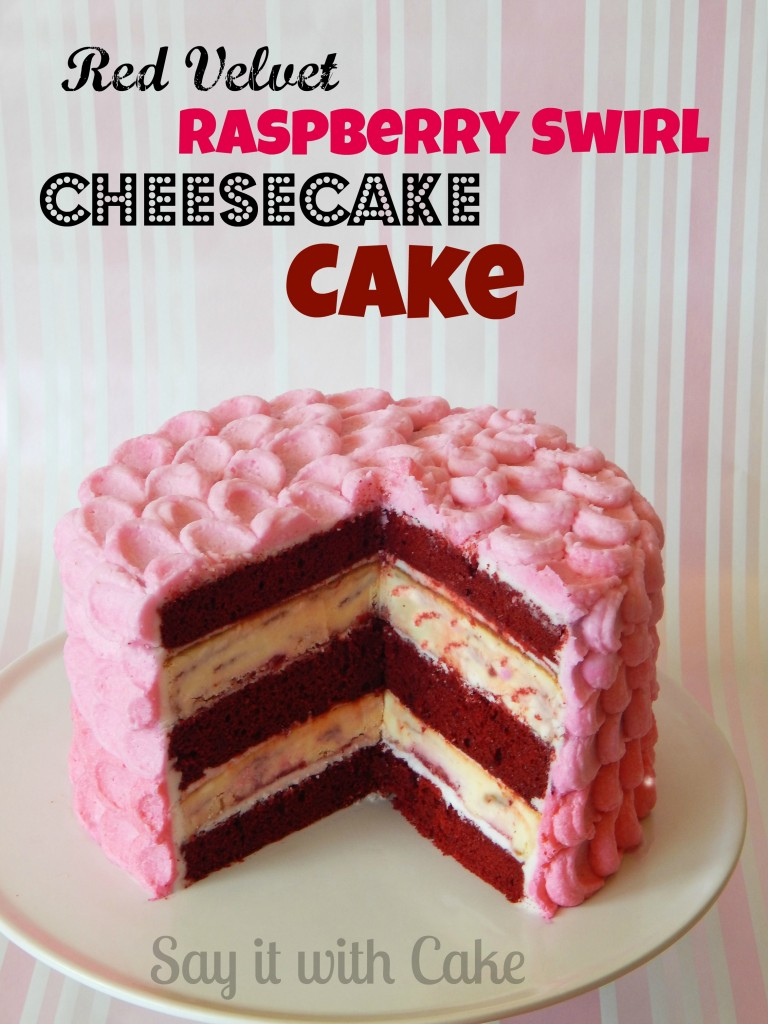 raspberry red velvet cheesecake cake