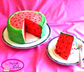 Watermelon Fondant Cake Say it With Cake