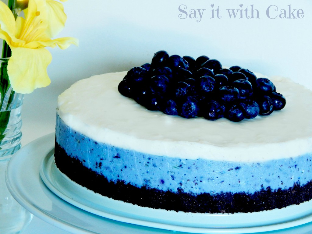 White Chocolate Blueberry Cheesecake Say It With Cake
