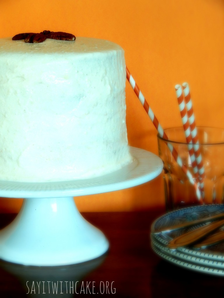 pumkin spice cake cream cheese frosting