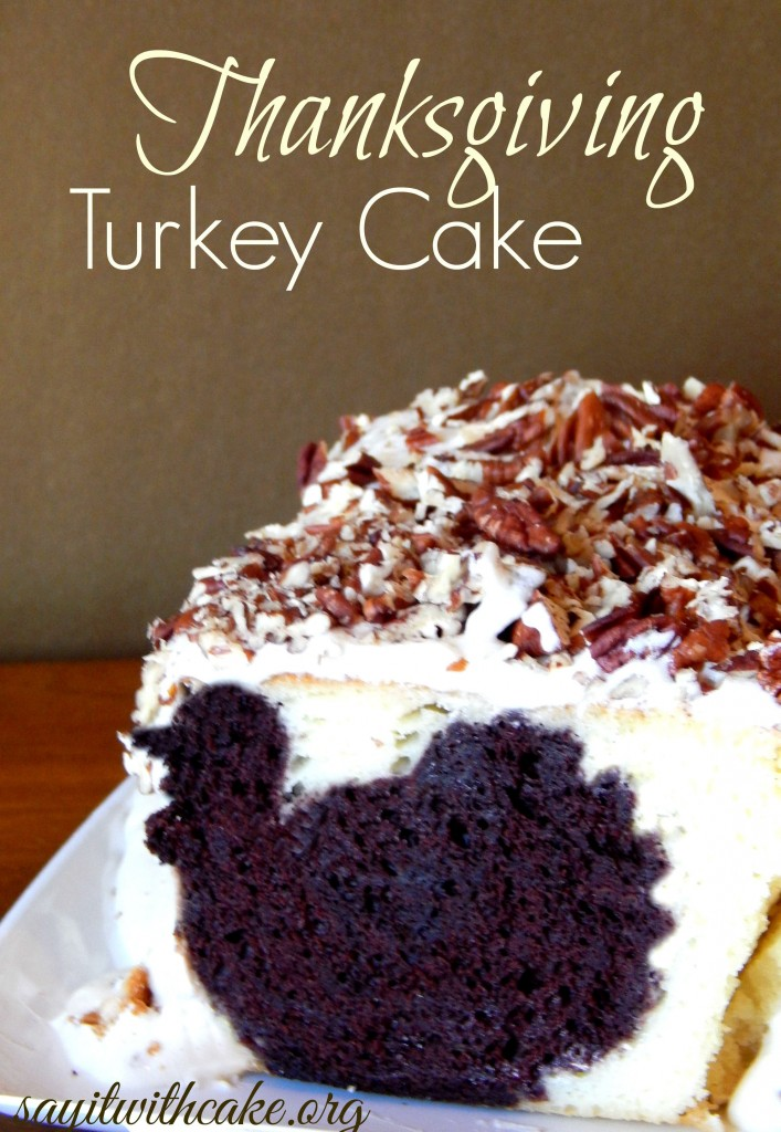 Thanksgiving Turkey Cake with Surprise inside