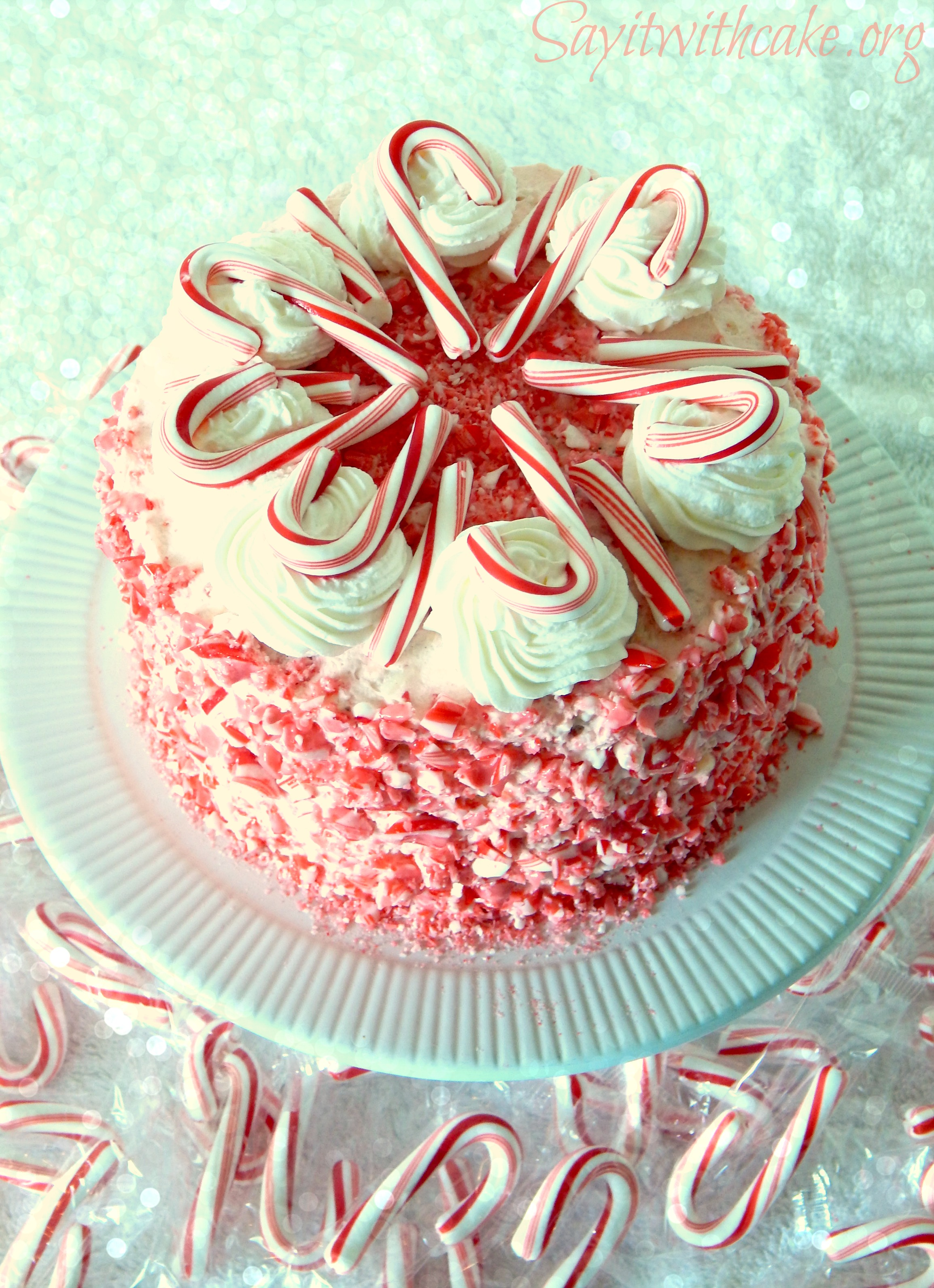 Candy Cane Cake Say It With Cake