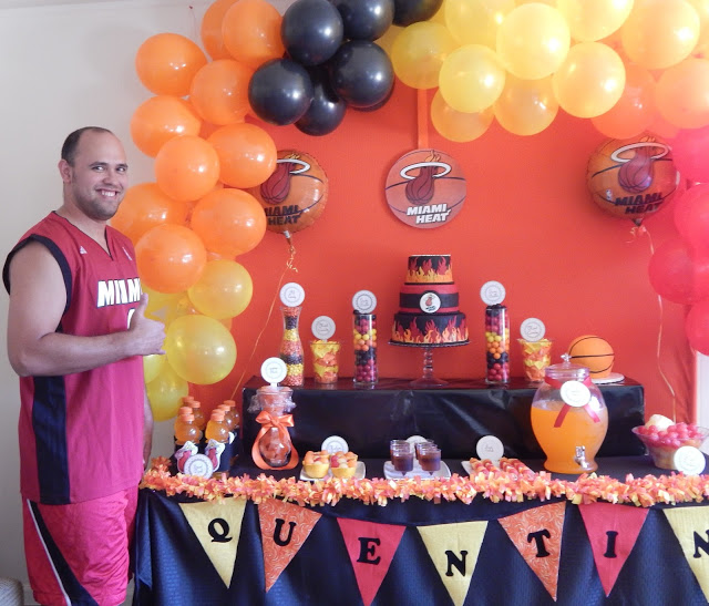 Miami Heat Party Say It With Cake