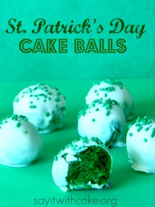 st paddy's day cake balls