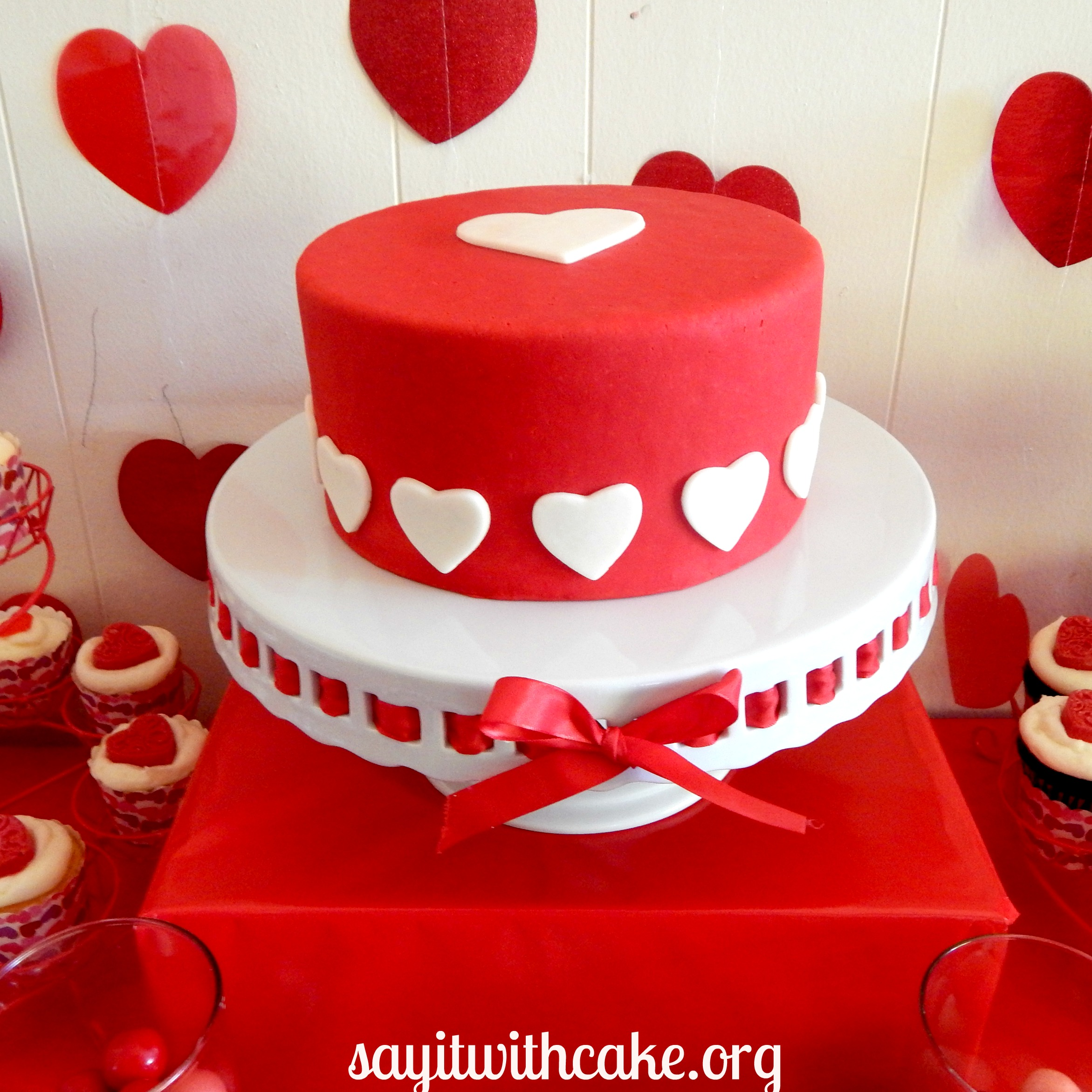 Valentine s Day Dessert Table Say it With Cake