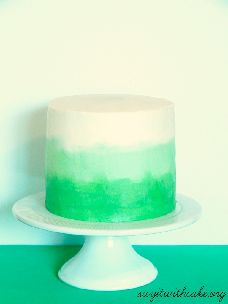 Green And Purple Wallpaper 67 Images: Green Ombre Swirl Cake