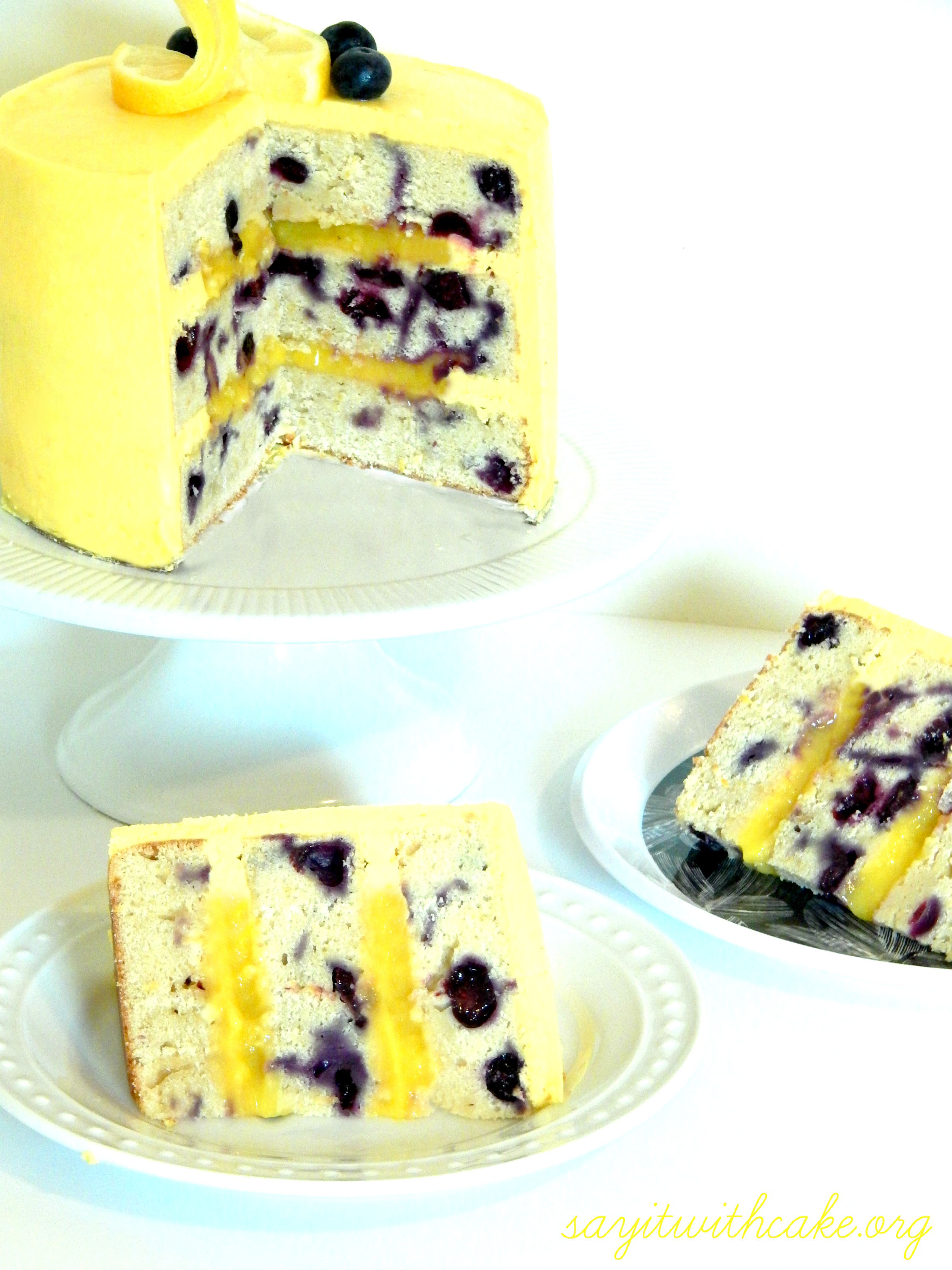 Lemon Blueberry Layer Cake | Say it With Cake
