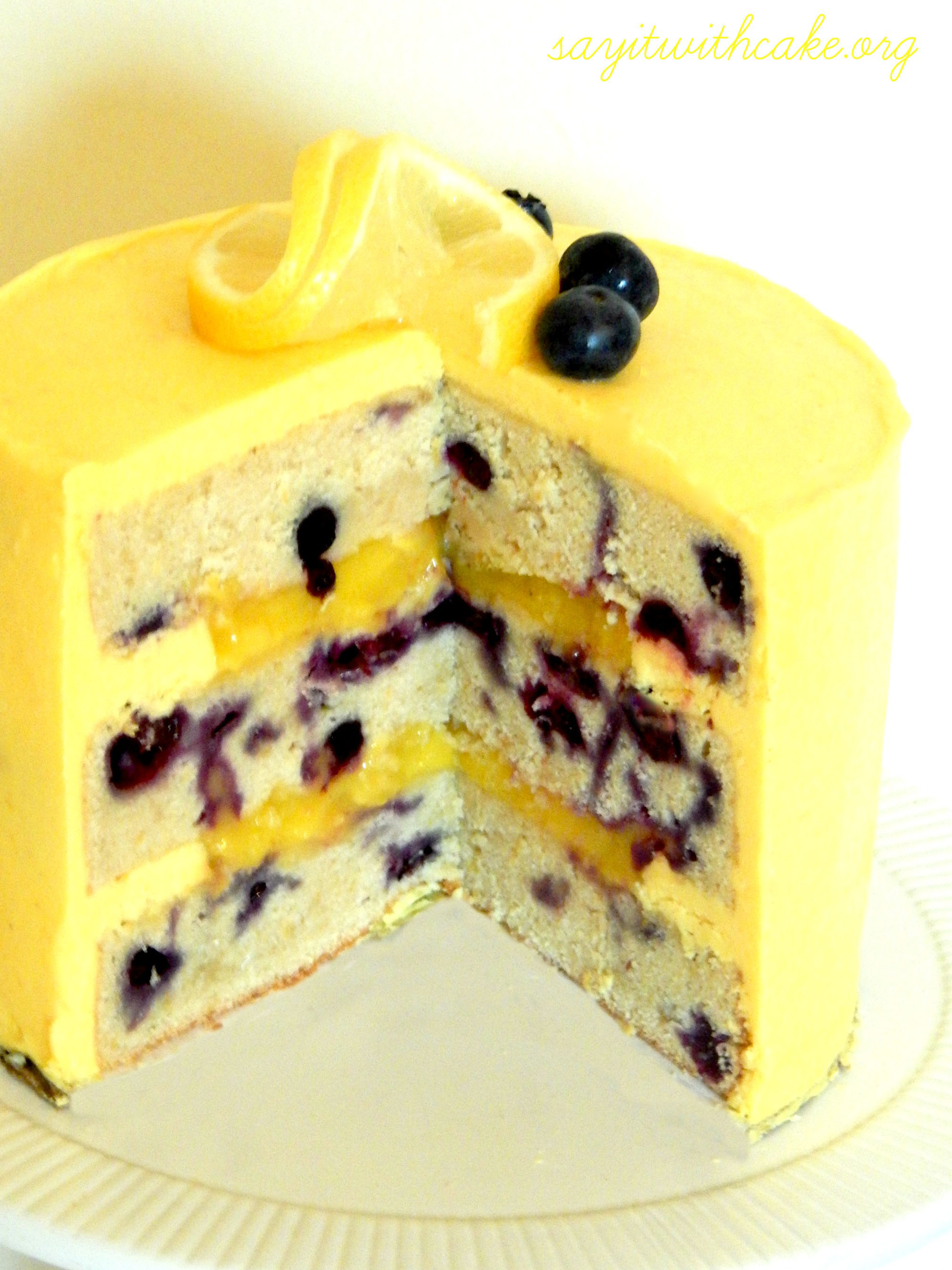 Delicious Blueberry Cake For Wedding