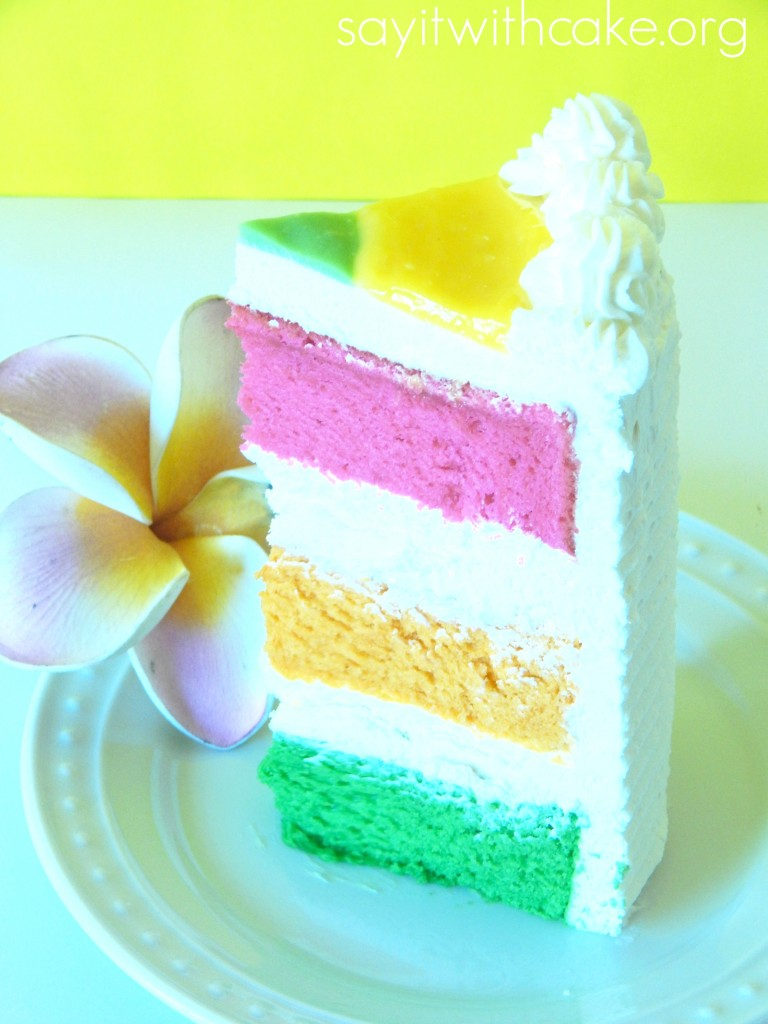 Delicious Hawaiian Paradise Layer Cake