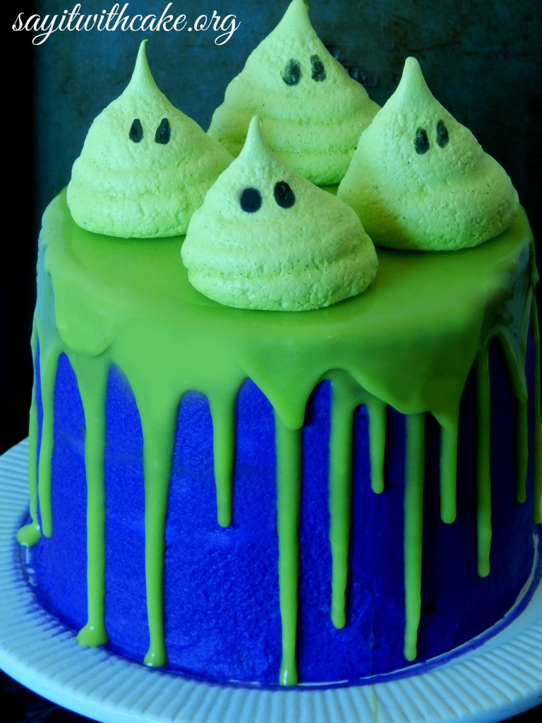 Halloween Cake With Meringue Ghosts Say It With Cake