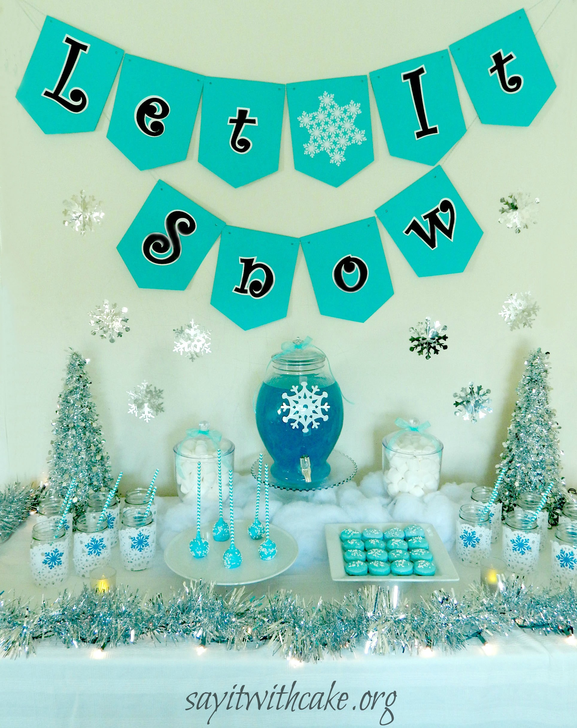 33 Blue Theme Party Candy Table Ideas Table Decorating Ideas