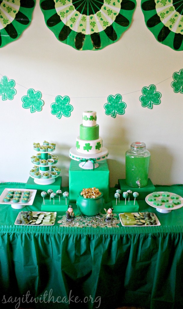 St. Paddy's Day dessert table