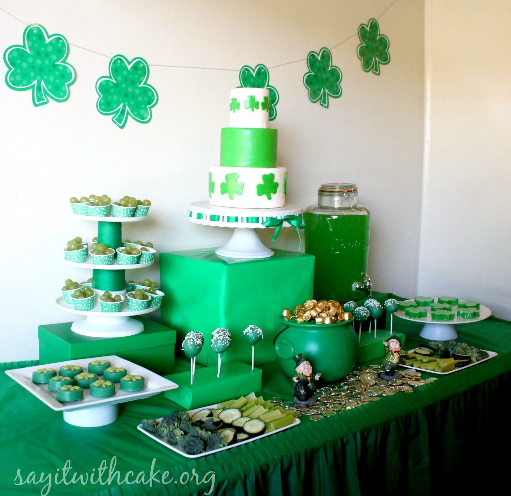 St. Paddy's Day Party Dessert Table
