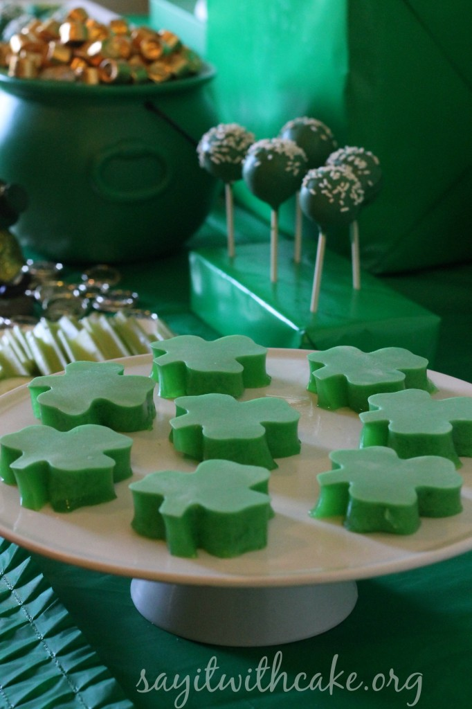 jello shamrocks
