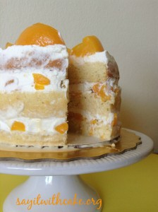 Tres Leches Cake with Peaches