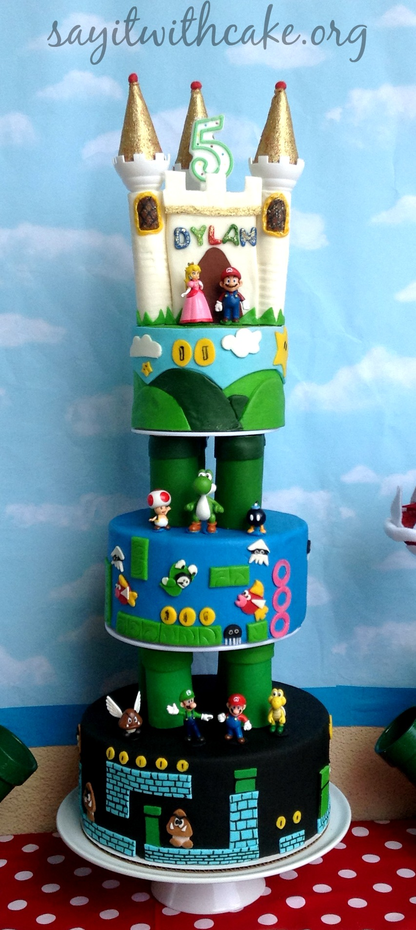 Super Mario Bros Party Say it With Cake