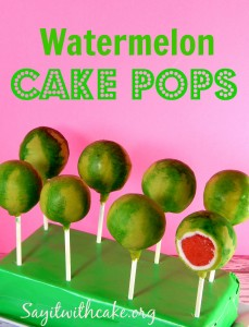 cakepops watermelon