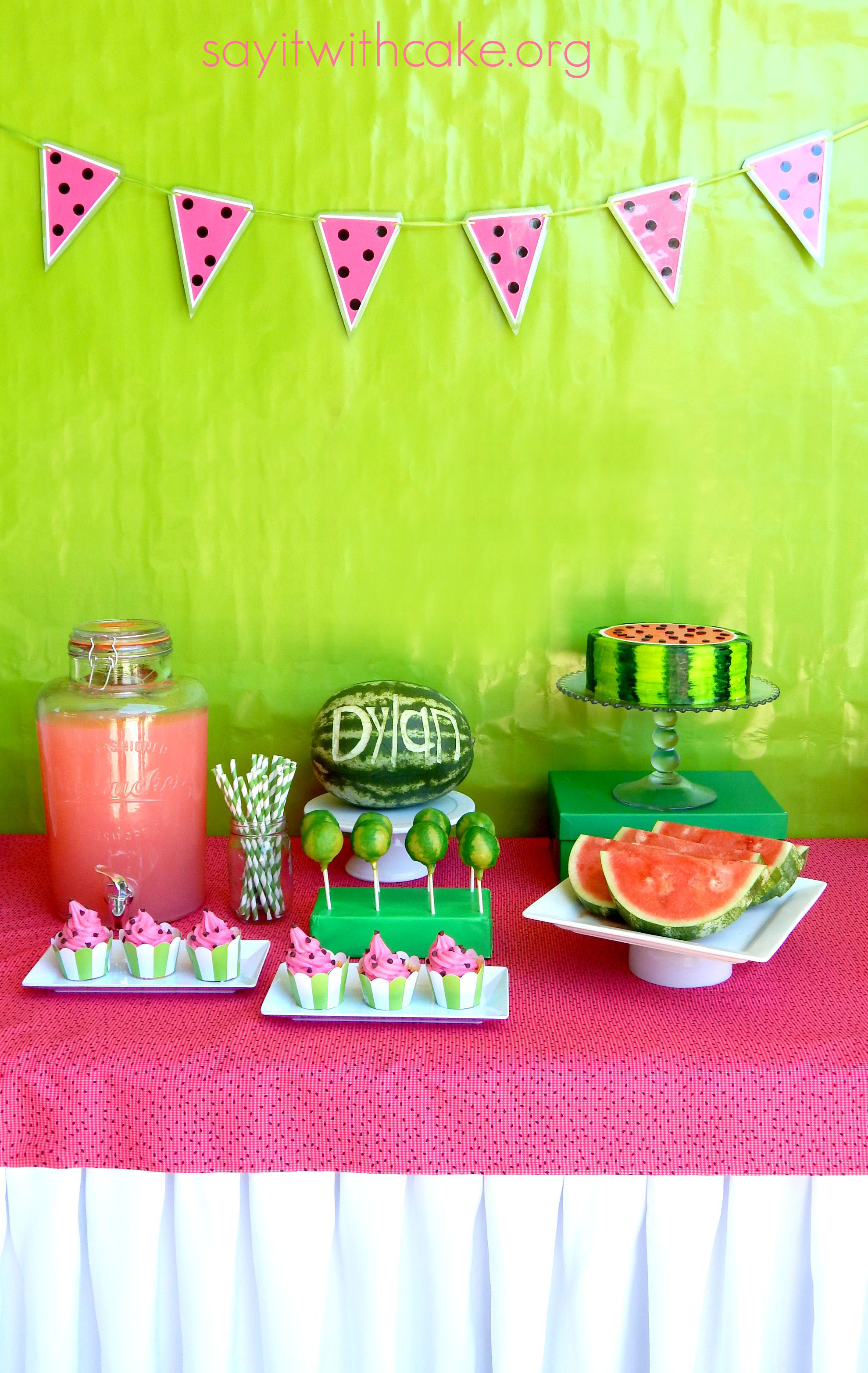 Everything Watermelon Party – Say it With Cake