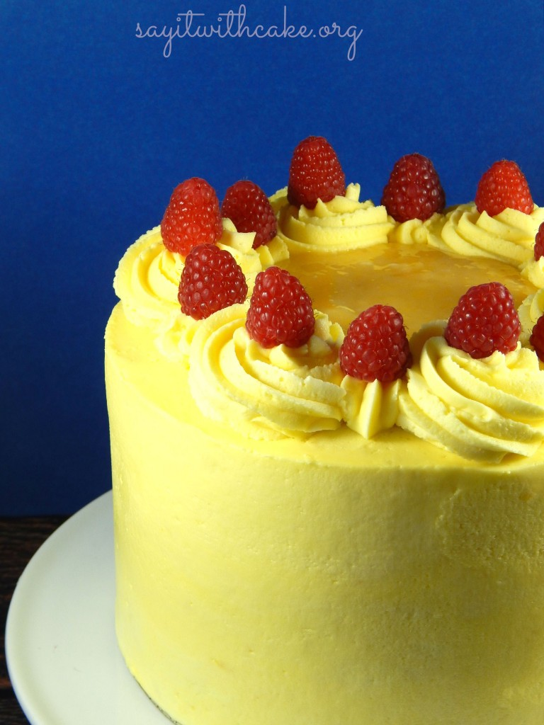 WASC Lemon Cake with fresh Raspberry filling | Say it With ...