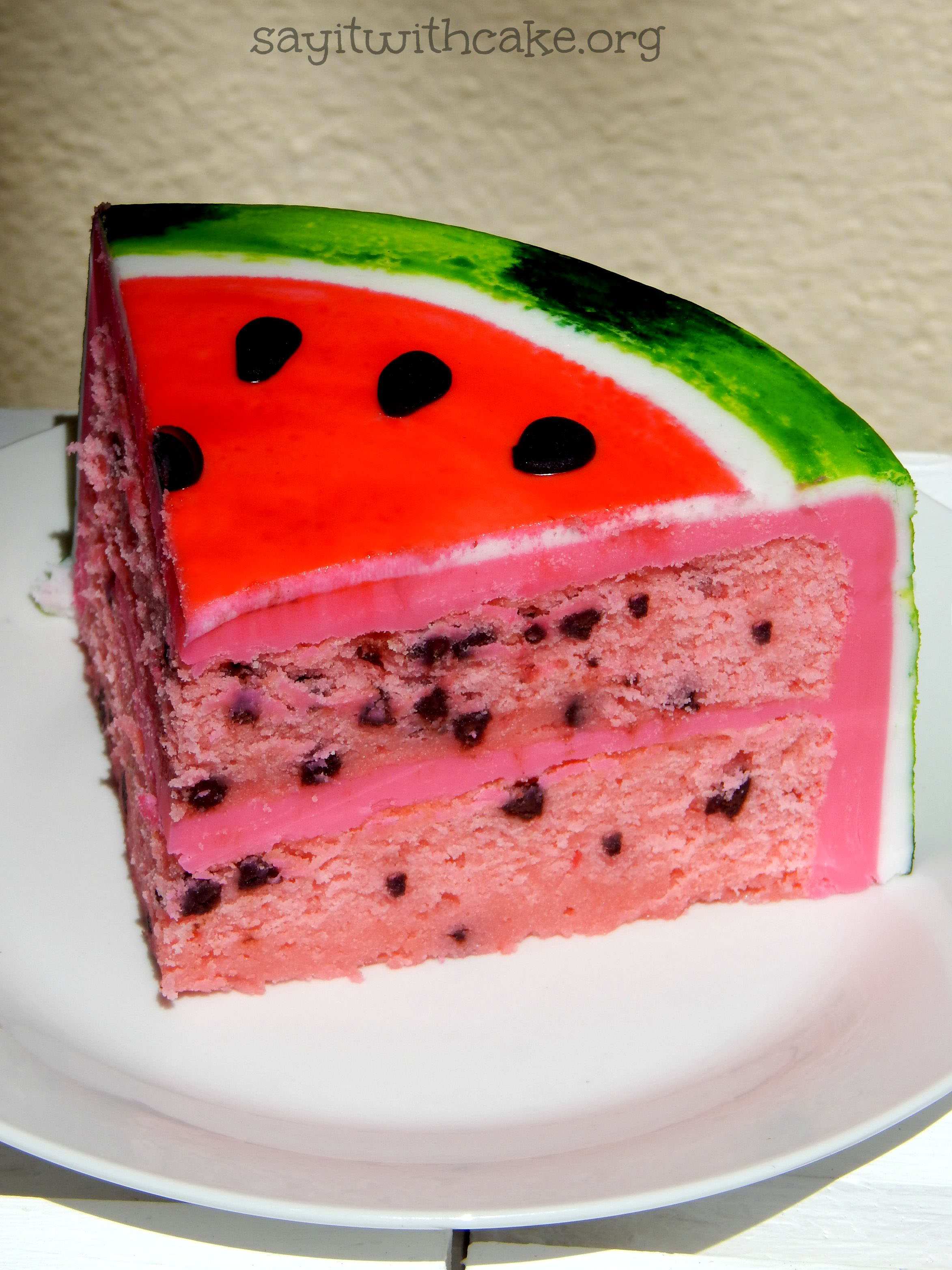 Watermelon Fondant Cake | Say it With Cake