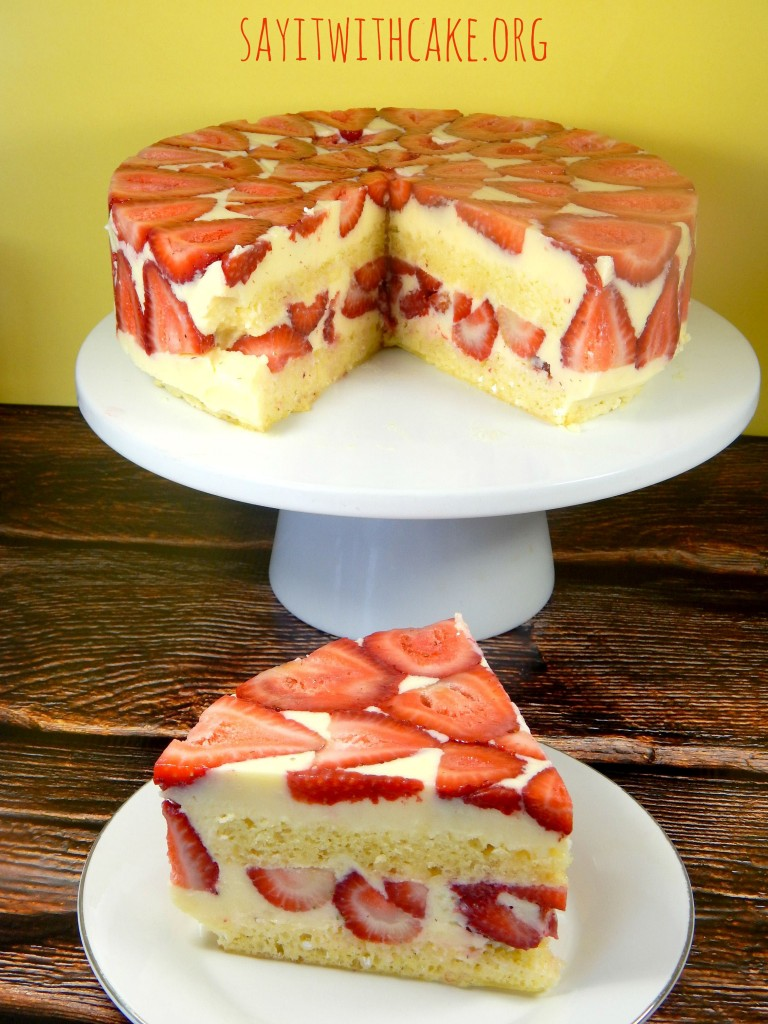 Strawberry Fraisier Cake Say It With Cake