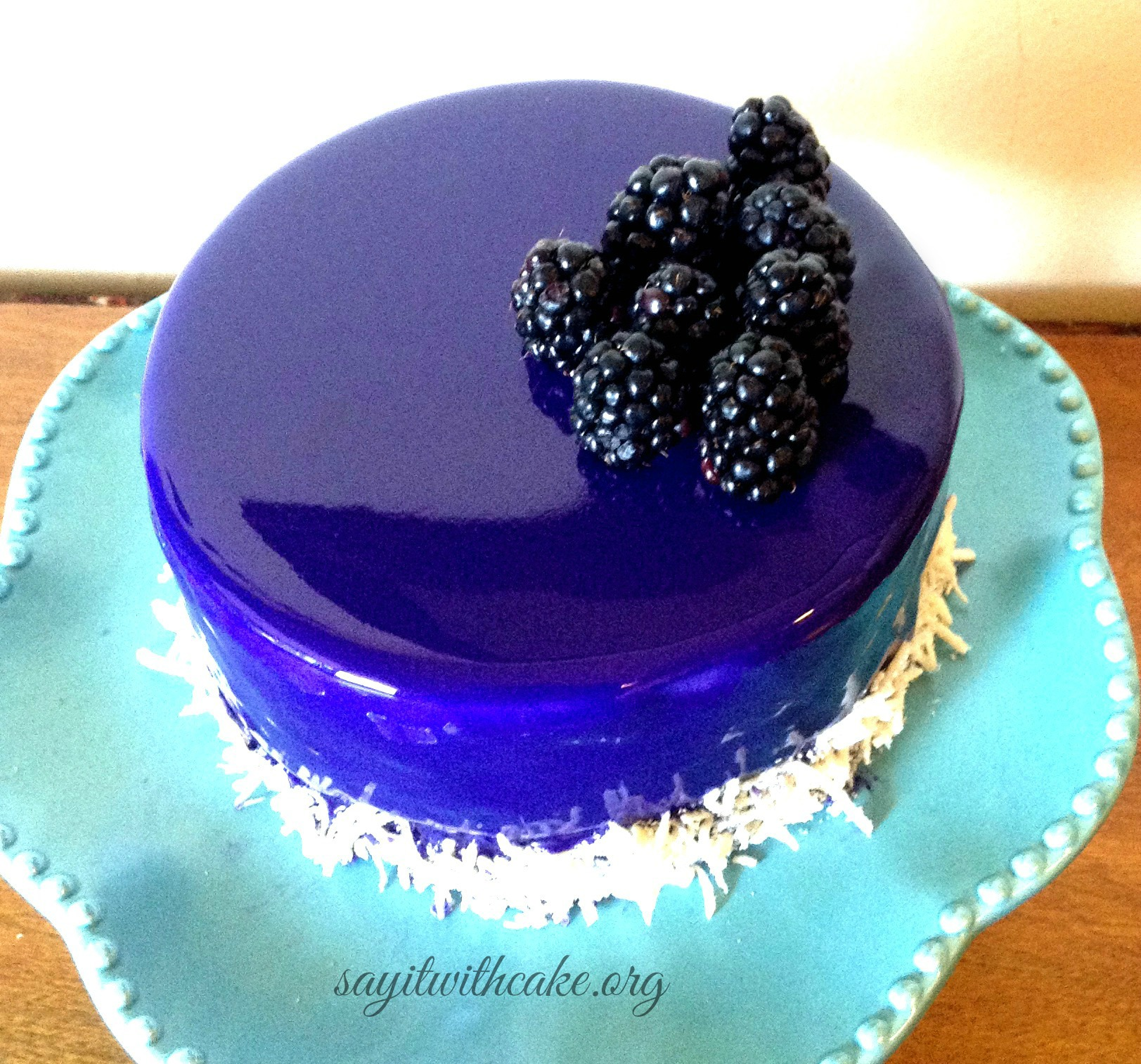 Black And Blue Chocolate Cake
