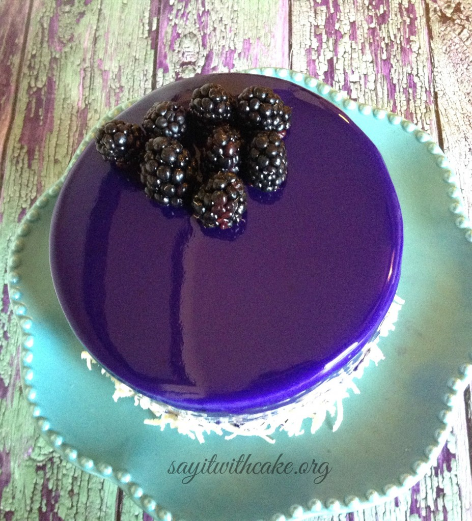 blackberry entremet moussecake mirror glaze