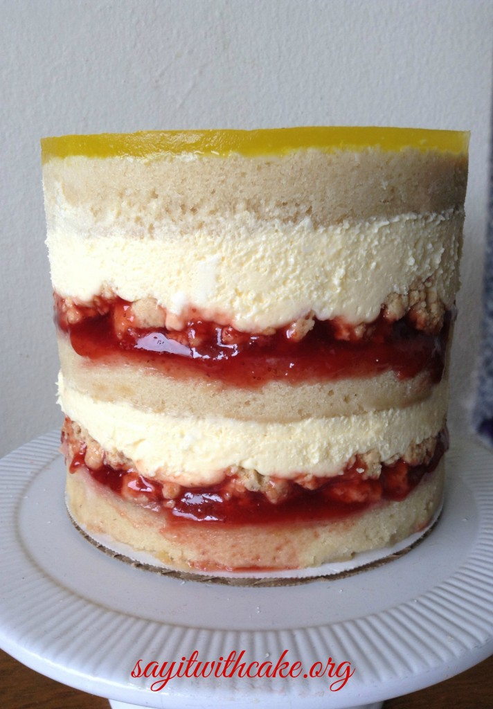 passion fruit lilikoi strawberry cake