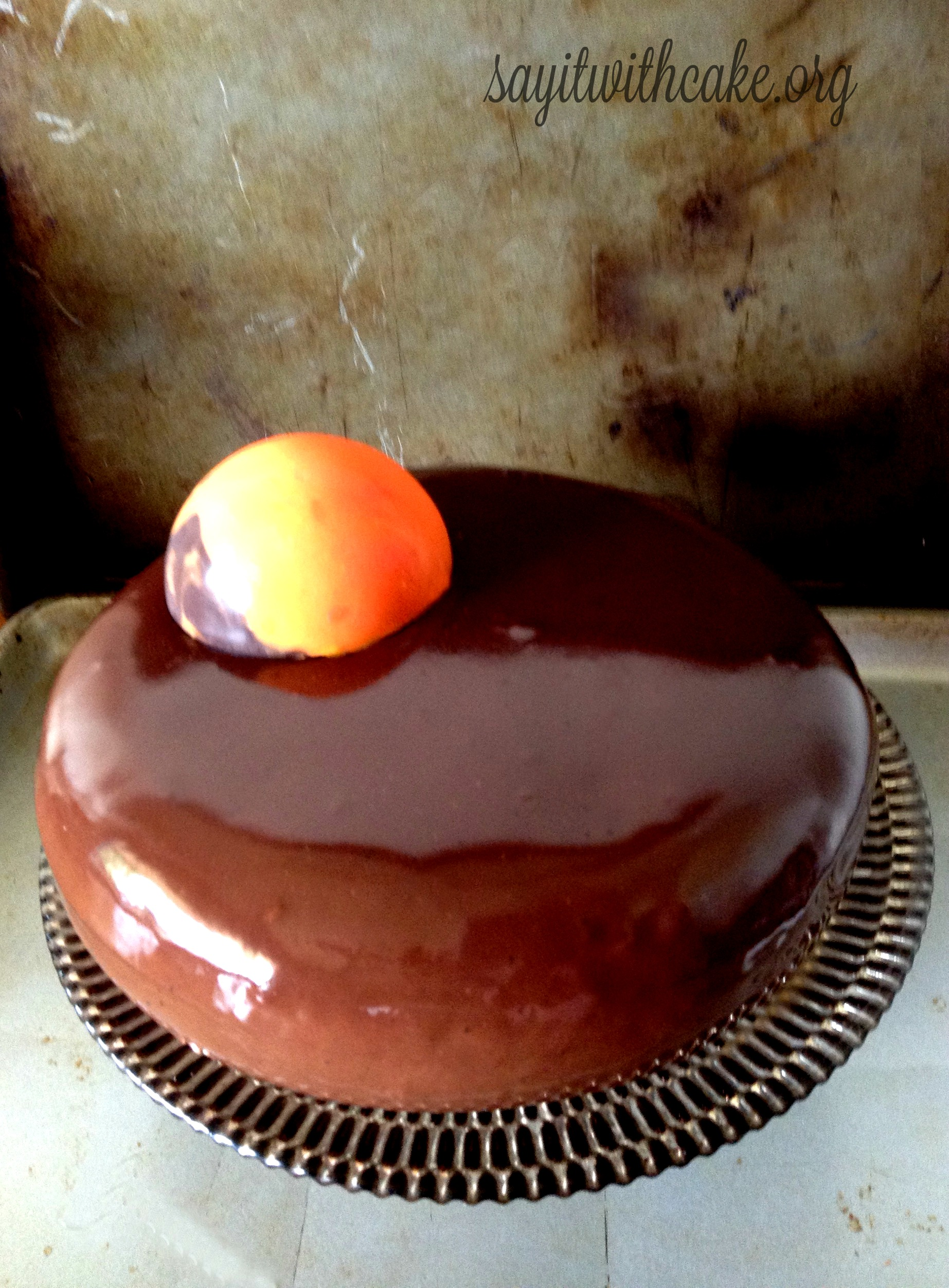 Chocolate Orange Entremet – Say it With Cake