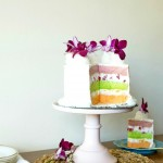 Passion fruit, Guava and Lime Chiffon Layer Cake