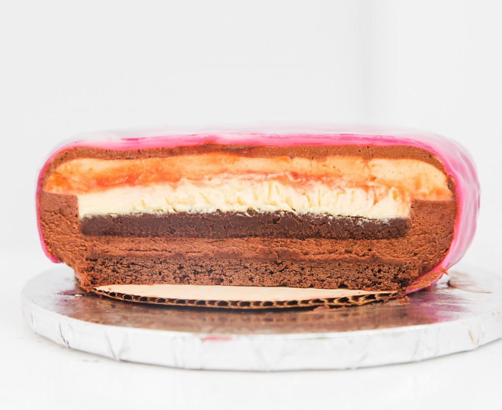 Creme Brûlée Entremet with Caramel and Chocolate Mousse